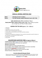 Baildon Walkers are Welcome AGM