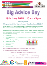 Big Advice Day for small charities and community groups