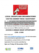 Grant Opportunity for Community Organisations