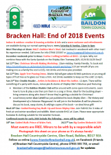 Bracken Hall - End of Year Events