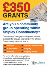 Shipley Area Community Chest Grants - Closing Date Extended