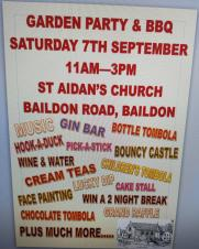 St Aidens Church Garden Party - 7th September 2019